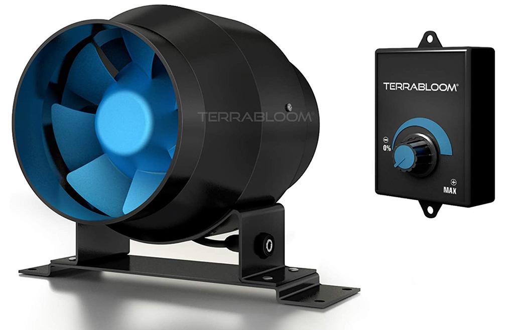 TerraBloom ECMF-100 4-Inch Inline Duct Fan