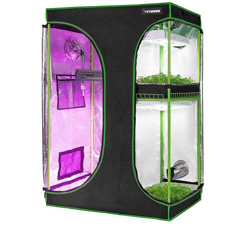 VIVOSUN 2-In-1 Grow Tent