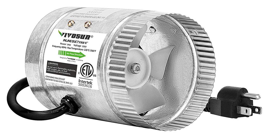 VIVOSUN 4-Inch Inline Duct Fan
