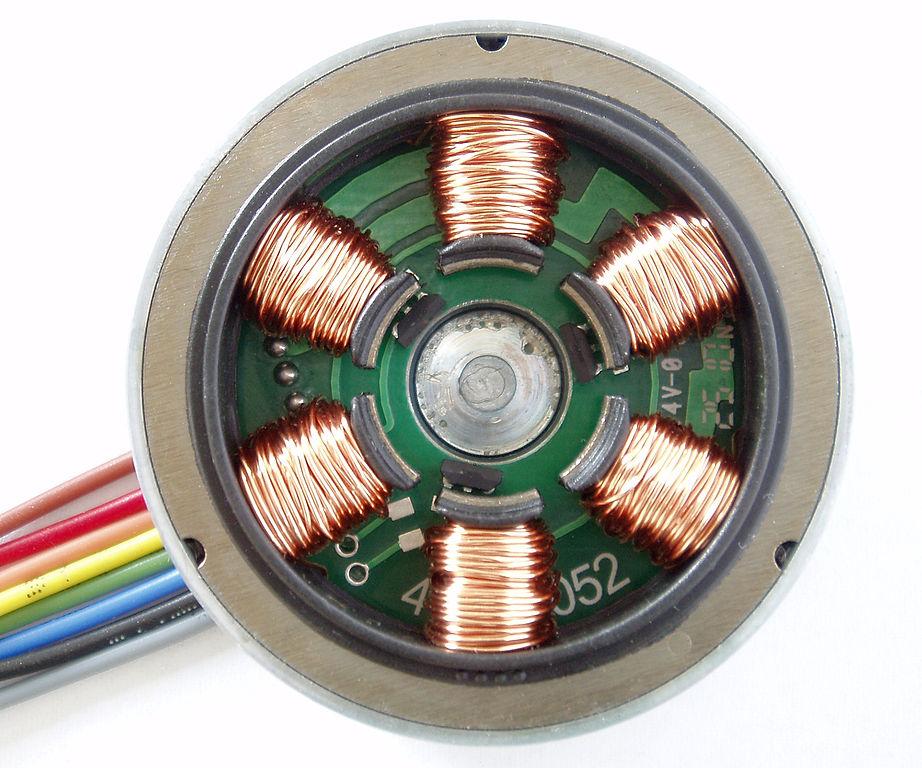stator winding of a brushless dc motor