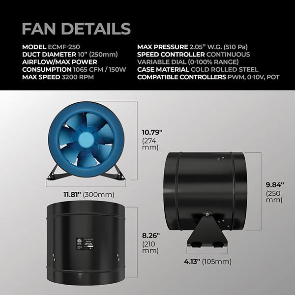 terrabloom 10 inch inline fan dimensions